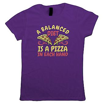 Balanced Diet Pizza, Womens T Shirt