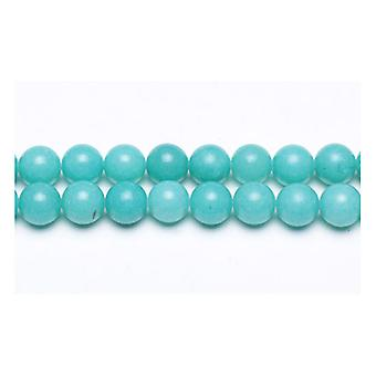 Packet 8 x Turquoise Malaysian Jade 8mm Plain Round Beads VP3295
