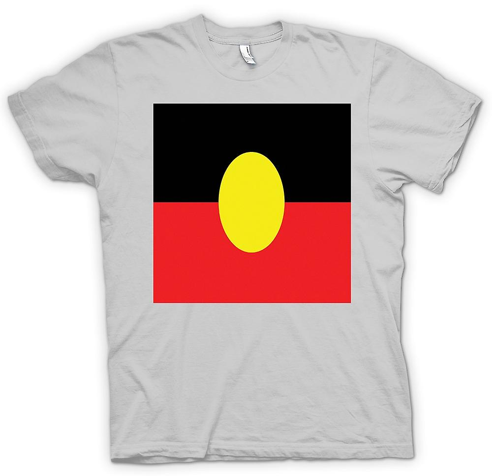 Heren T-shirt - Australische Aboriginal Flag