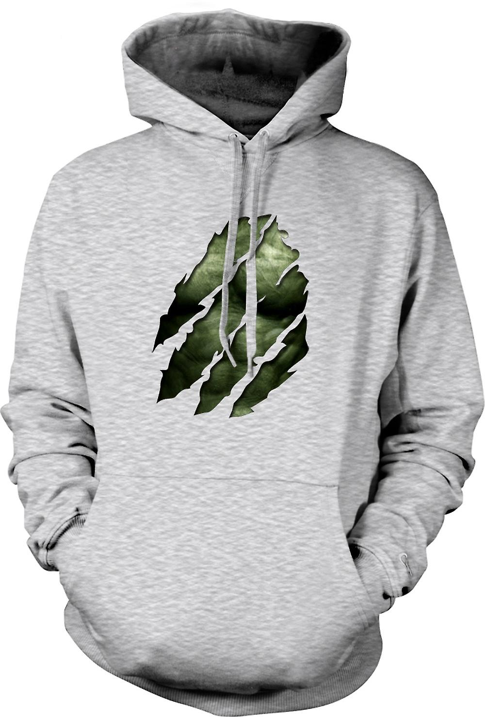 Mens Hoodie - The Hulk - Ripped Effect