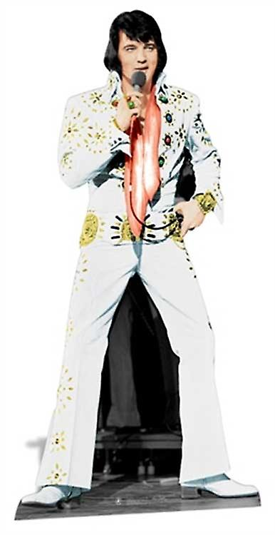 Elvis Las Vegas vit kostym Lifesize kartong släppandet / stående