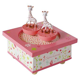 Sophie the Giraffe Spinning Music Box