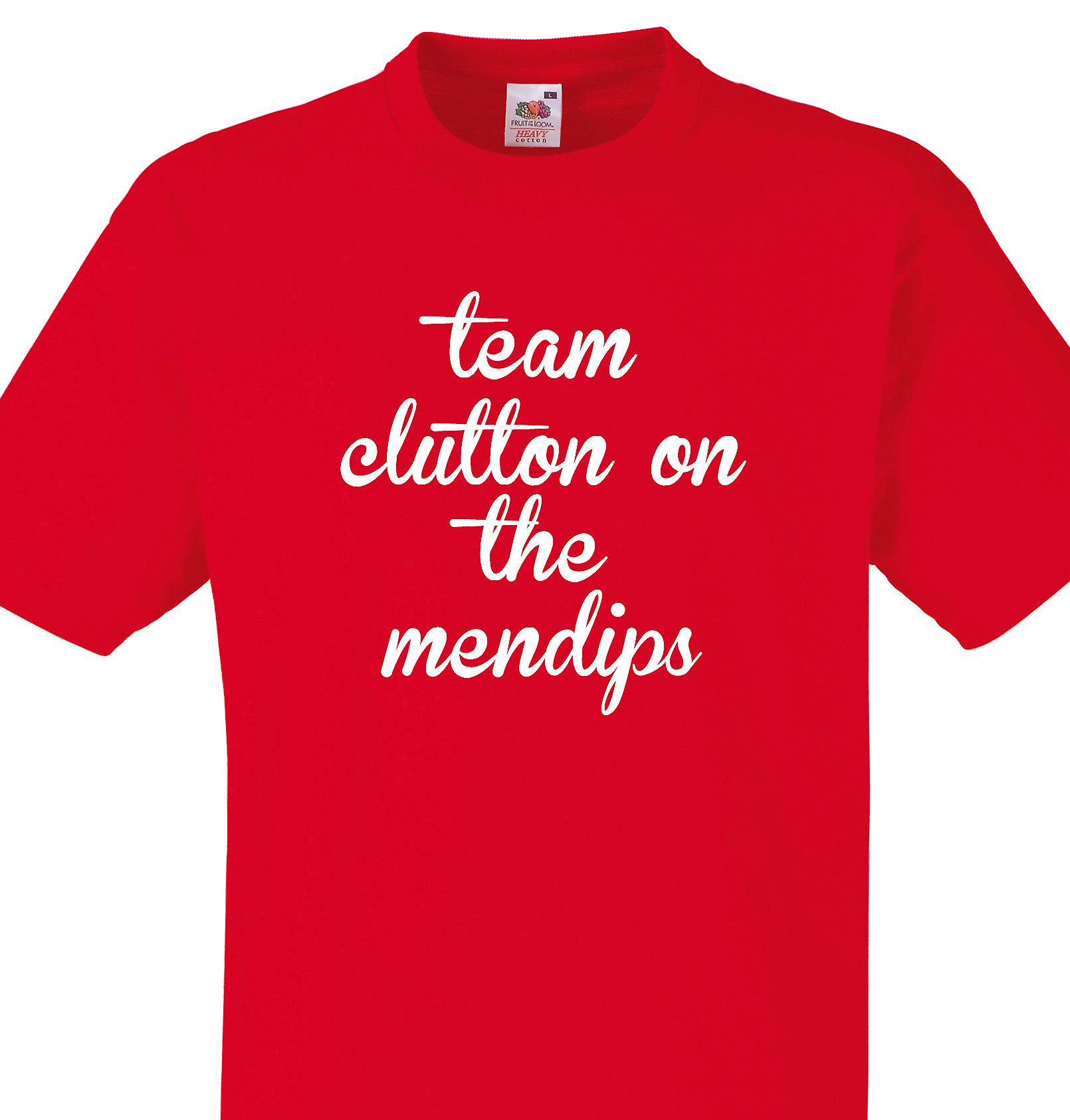 Team Clutton on the mendips Red T shirt