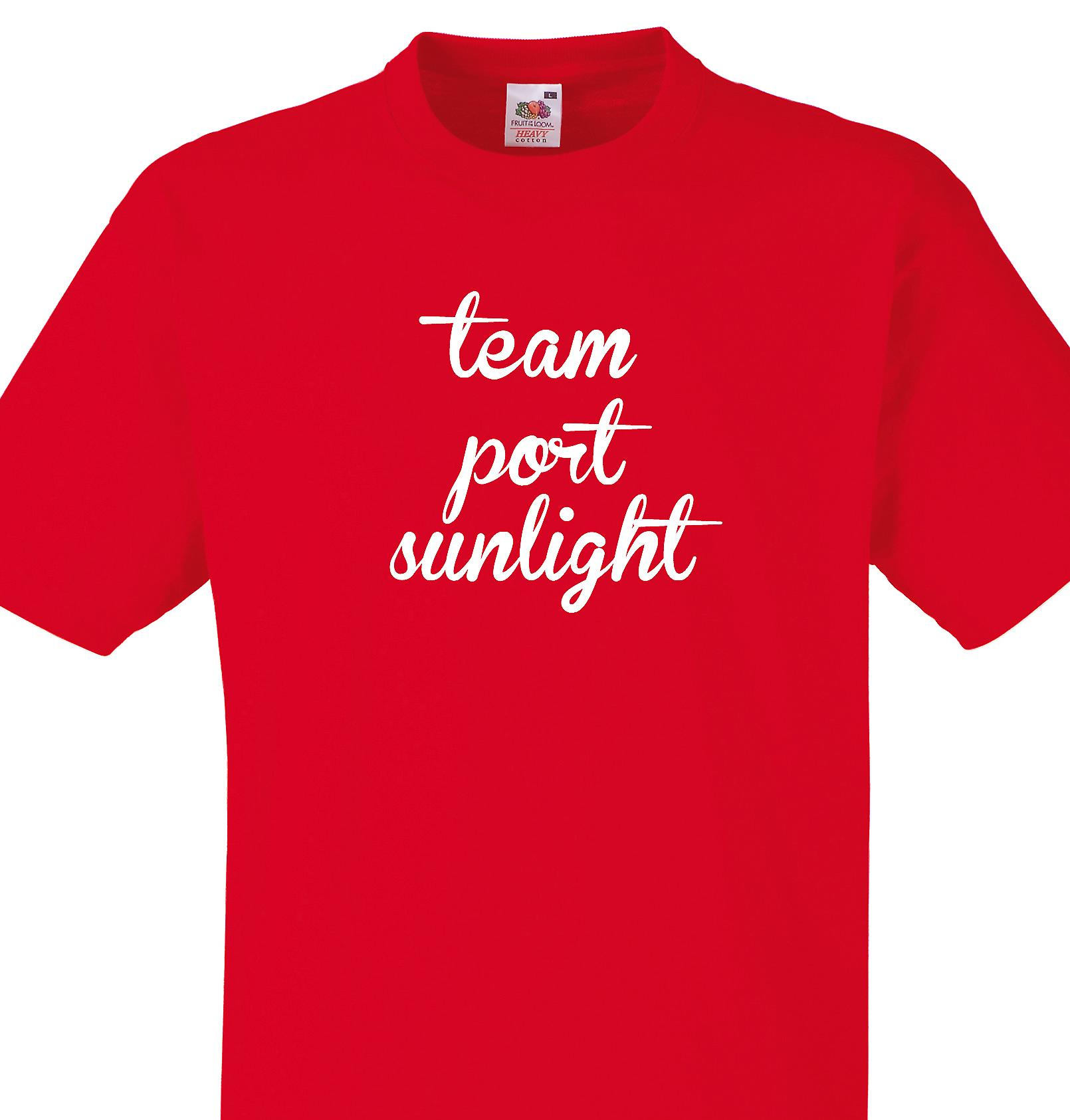 Team Port sunlight Red T shirt