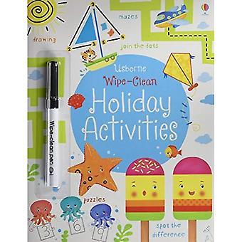 Atividades de férias limpar-limpar (Wipe limpa atividade livro)