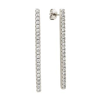 Sole du Soleil Lily Collection Women's 18k WG Plated Bar Drop Fashion Earrings