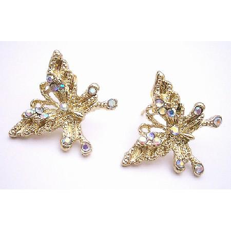 Lovely Detailed Pair Of Golden Butterfly Earrings Surgical Post