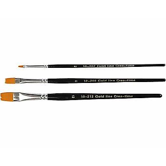 3 Flat Head Paint Brushes for Crafts | Kids Paint Brushes