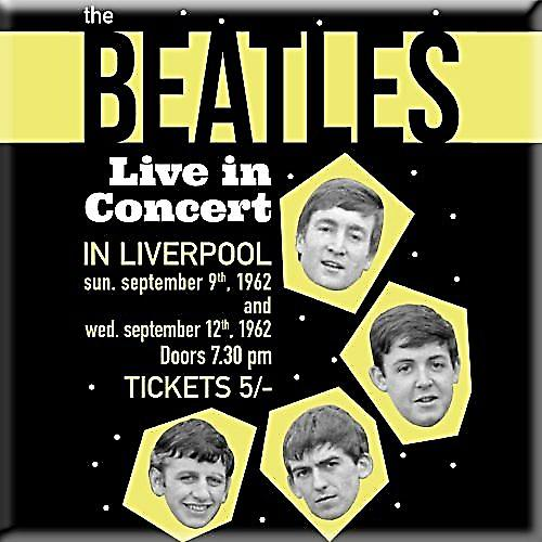 Beatles Live In Concert Liverpool 1962 fridge magnet  (ro)