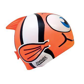 Junior Zoggs Silicone personagem nadar Cap - peixe laranja