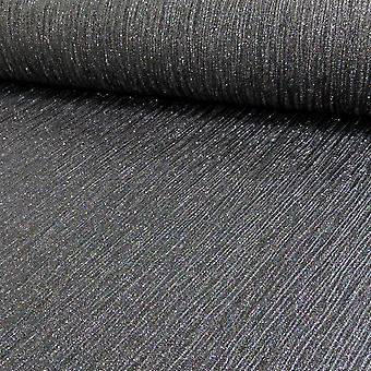 Debona Glitter Effect Shimmer Glittery Encrusted Black Shiny Vinyl Wallpaper