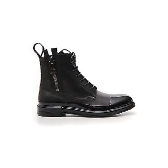 Dolce E Gabbana Black Leather Ankle Boots