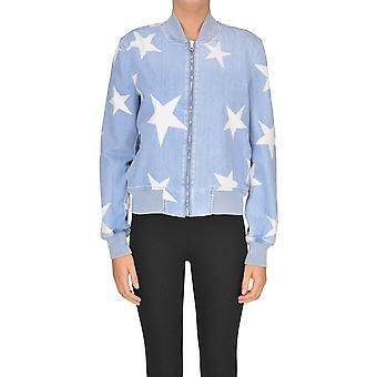 Stella Mccartney Light Blue Cotton Outerwear Jacket