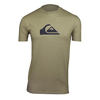 Quiksilver Mens Comp Logo T-Shirt-hemliga grön