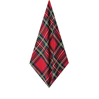 Dobell Mens Red Tartan Handkerchief