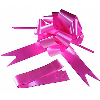 Easy To Make Decorative Gift Chair-Car Pull Bow 1.75m x 5cm Pack Of 20 - Hot Pink/Cerise