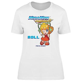 Mega Man Powered Up Roll Videogame Graphic Women's T-shirt