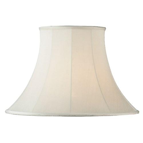 Endon CARRIE-14 Carrie Cream Fabric Lamp Shade Round Bell Shape - 14 Inch