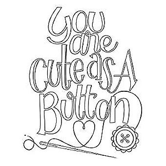 Spellbinders Cute as a Button Stamp Set (SBS-159)