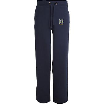 Lowland Band Of The Scottish Veteran - Licensed British Army Embroidered Open Hem Sweatpants / Jogging Bottoms