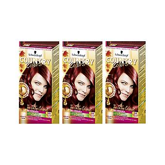 Schwarzkopf Country Colours 58 Grand Canyon koper semi-Perm Haarverf x 3 pack