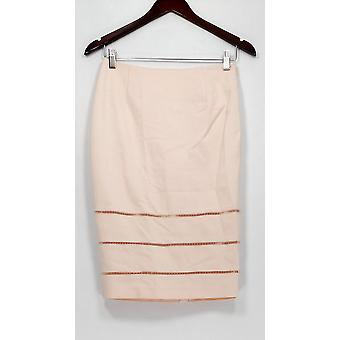 G.I.L.I. got it love it Skirt Pencil Skirt with Open Work Detail Pink A275548