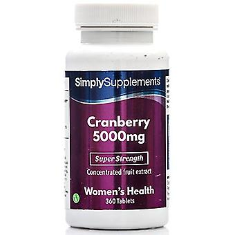 Cranberry-5000mg - 360 Tablets