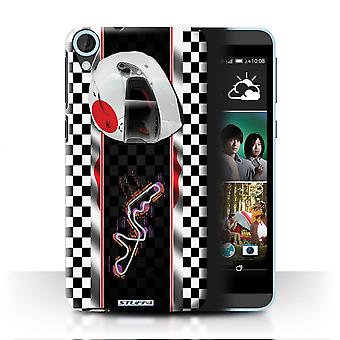 STUFF4 Case/Cover for HTC Desire 820s Dual/Japan/Suzuka/F1 Track Flag