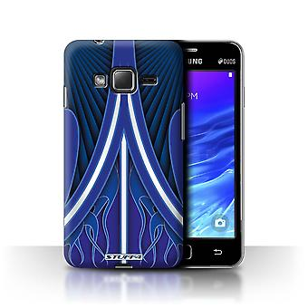 STUFF4 Case/Cover for Samsung Z1/Z130/Blue/White/Custom Paint Job