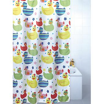 Quackers patos color poliester ducha cortina 180 x 180cm