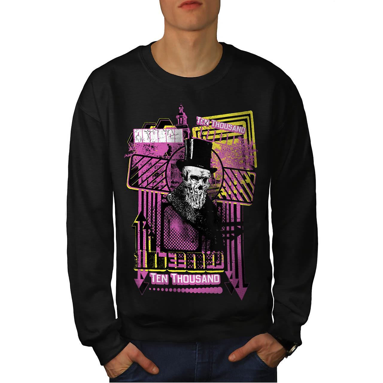 Reason For Death Gent Haunted Men Black Sweatshirt | Wellcoda