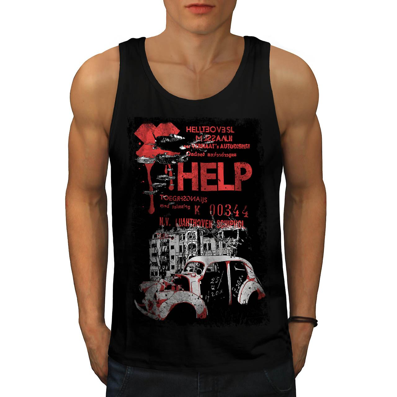 Amsterdam Life Taxi Help Rider Men Black Tank Top | Wellcoda
