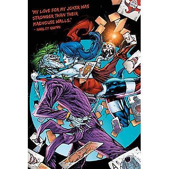 DC Comics Harley Quinn Joker Kiss Poster Poster Print