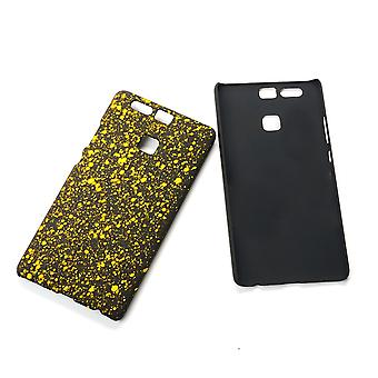 Cell phone cover case bumper shell for Huawei P9 3D star yellow