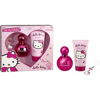 Hello Kitty Pink Case (Cologne Vapo 100 ml + Body 100) (Enfant , Parfums)