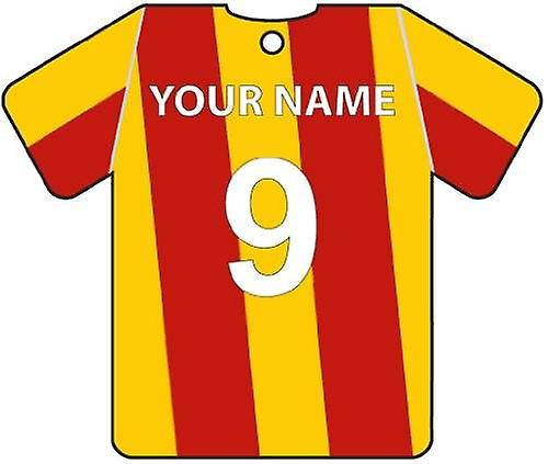 Gepersonaliseerde Bradford City Football Shirt auto luchtverfrisser