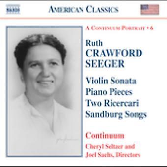 RC Seeger - Ruth Crawford Seeger: Violin Sonata; Klaverstykker; To Ricercari; Sandburg sange [CD] USA importerer