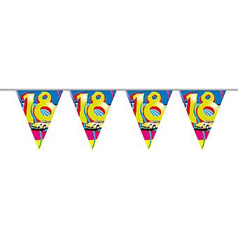 Pennant chain 10 m Garland 18 birthday decoration party automotive