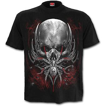 Spiral Direct - SPIDER SKULL - Men's Short Sleeve T-Shirt . Black
