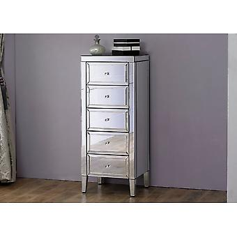 Birlea Valencia 5 Drawer Narrow Chest