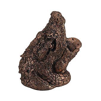 Stromfressende Gator Kupferoberfläche Alligator Kopf Weinflasche Halter