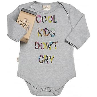 Spoilt Rotten Cool Kids Don't Cry Organic Baby Grow In Milk Carton