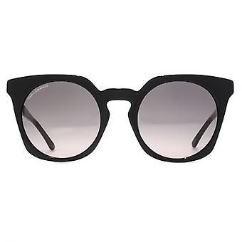 Karl Lagerfeld Geometric Keyhole Sunglasses In Black