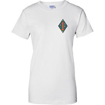 USMC 1st Marine Division Guadalcanal Insignia - Ladies Chest Design T-Shirt