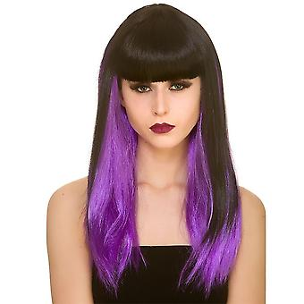 Adults Ladies Straight Dark Fantasy Wig Halloween Fancy Dress Accessory
