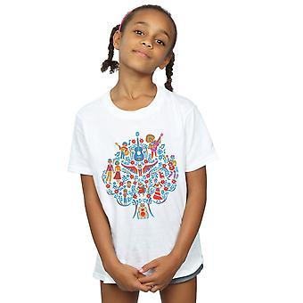 Disney Girls Coco Tree Pattern T-Shirt