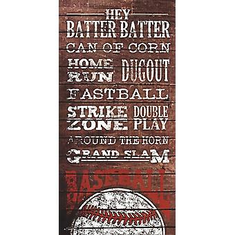 Baseball Poster Print by Susan Ball (9 x 18)