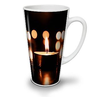 Helle ruhige Art neue weißer Tee Kaffee Keramik Latte Becher Kerze 17 oz   Wellcoda