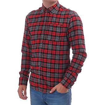 Scotch & Soda Ls Checked Shirt In Brushed Cotton
