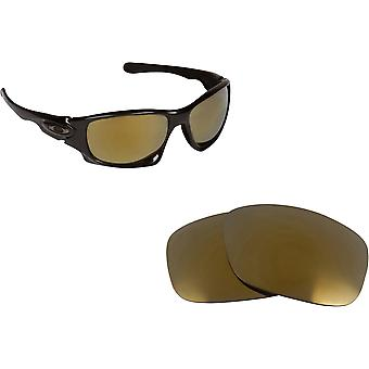 Ten X Replacement Lenses Polarized Black & Gold by SEEK fits OAKLEY Sunglasses